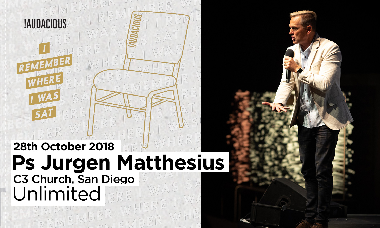 Jurgen Matthesius – Unlimited – 28th October 2018